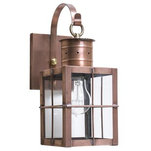 Micheal Compatible Outdoor Wall Lantern by Alcott Hill