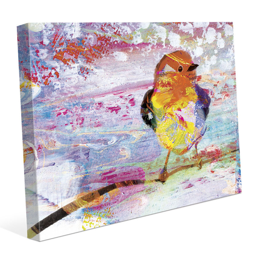 Click Wall Art Amber Chickadee Painting Print On Wrapped Canvas Wayfair