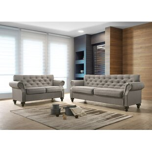 Baring 2 Piece Standard Living Room Set by Three Posts