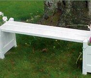 Dura-Trel Square Plastic Planter Bench
