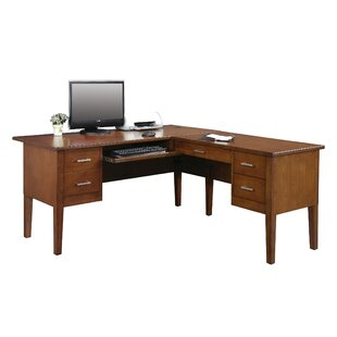 Eaton Solid Wood L-Shape Executive Desk by Darby Home Co