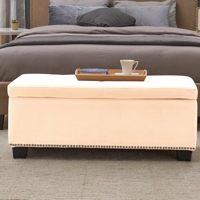 Pleasant Pelayo Tufted Storage Ottoman Andrewgaddart Wooden Chair Designs For Living Room Andrewgaddartcom