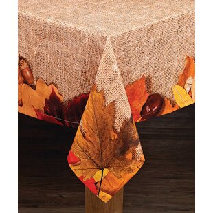 Delvale Harvest Leaves Cotton Printed Tablecloth