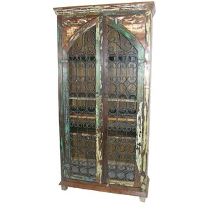 Iron Jali Tall Accent Cabinet