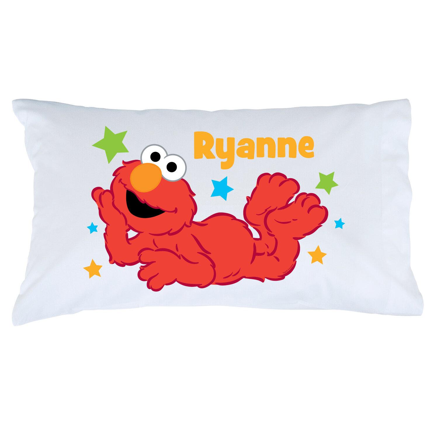 CPS Personalized Sesame Street Elmo Star Pillow Case | Wayfair