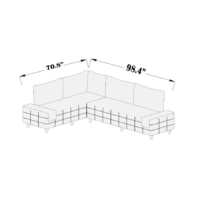 Corrigan Studio Fenske 98 Reversible Sleeper Corner Sectional Wayfair