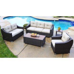 Suai 5 Piece Sofa Seating Group with Cushions