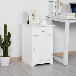 Wittman 1  Drawer Nightstand in White by Rosecliff Heights