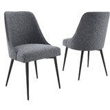 Bridewell Upholstered Side Chair (Set of 2) by Wrought Studio™