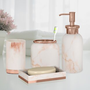 3-Piece Set Circleware Daisy Bath Collection Soap Dispenser