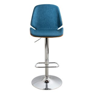 Fleenor Adjustable Height Swivel Bar Stool George Oliver