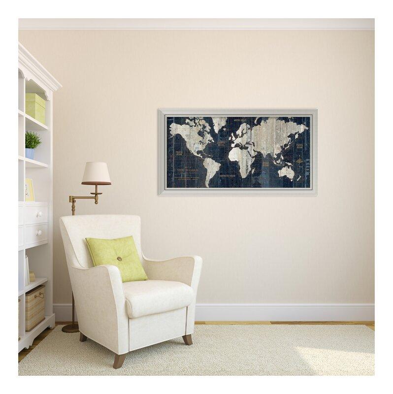 Old world map framed graphic art reviews joss main old world map framed graphic art gumiabroncs Gallery