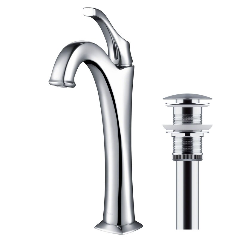 Kraus  Arlo Single Hole Bathroom Faucet with Drain Assembly