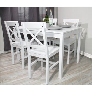 3 Piece Dinner Set Solid Wood Dining Table