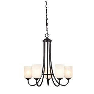 Price Check Keirin 5-Light Shaded Chandelier By Winston Porter
