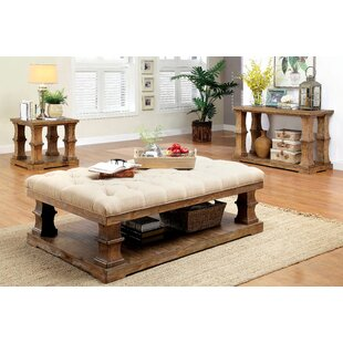 Beachcrest Home Arizona 3 Piece Coffee Table Set