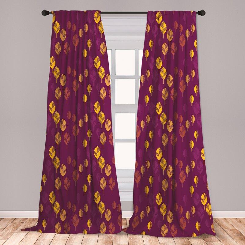 East Urban Home Fall Autumn Room Darkening Rod Pocket Curtain Panels Wayfair