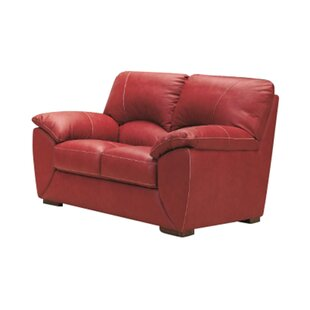 Fuego Leather 2 Seater Sofa By Ebern Designs