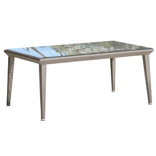 Maldives Glass Dining Table by Panama Jack Outdoor