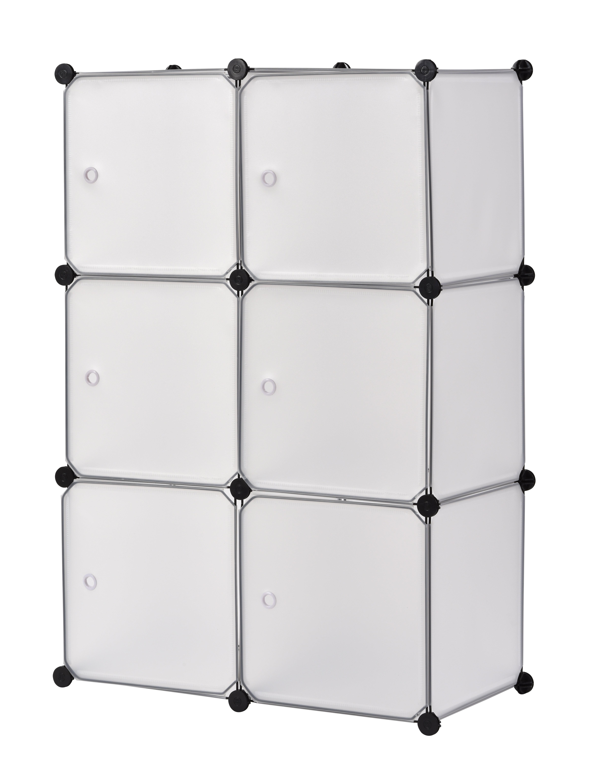 Beau Rebrilliant Modular Cube Storage 24 Pair Stackable Shoe Rack | Wayfair
