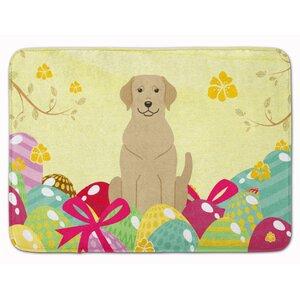 Easter Eggs Labrador Memory Foam Bath Rug