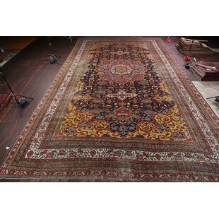 One-of-a-Kind Stephen Palace Bakhtiari Persian Hand-Knotted 18' x 32' 2'' Wool Navy Blue/Blue Area Rug By Isabelline
