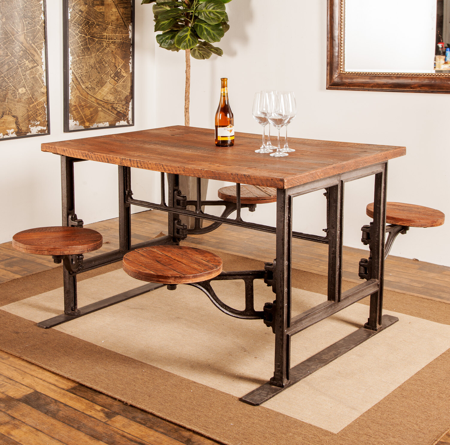 17 Stories Emestina Rustic Dining Table