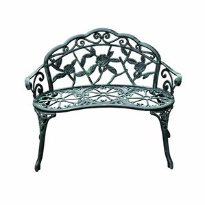 Asheville Antique Outdoor Patio Metal Garden Bench