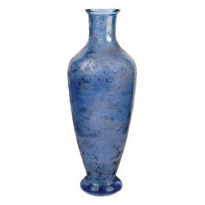 Nash Textured Marina Glass Floor Vase