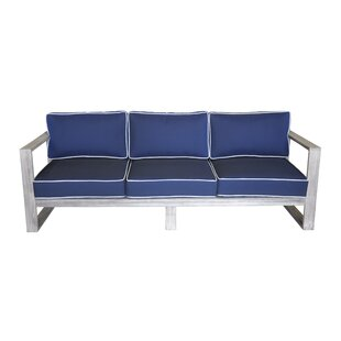 Longshore Tides Asther Teak Patio Sofa with cushions