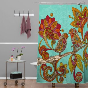 Mellott Hello Birds Extra Long Shower Curtain by Bungalow Rose