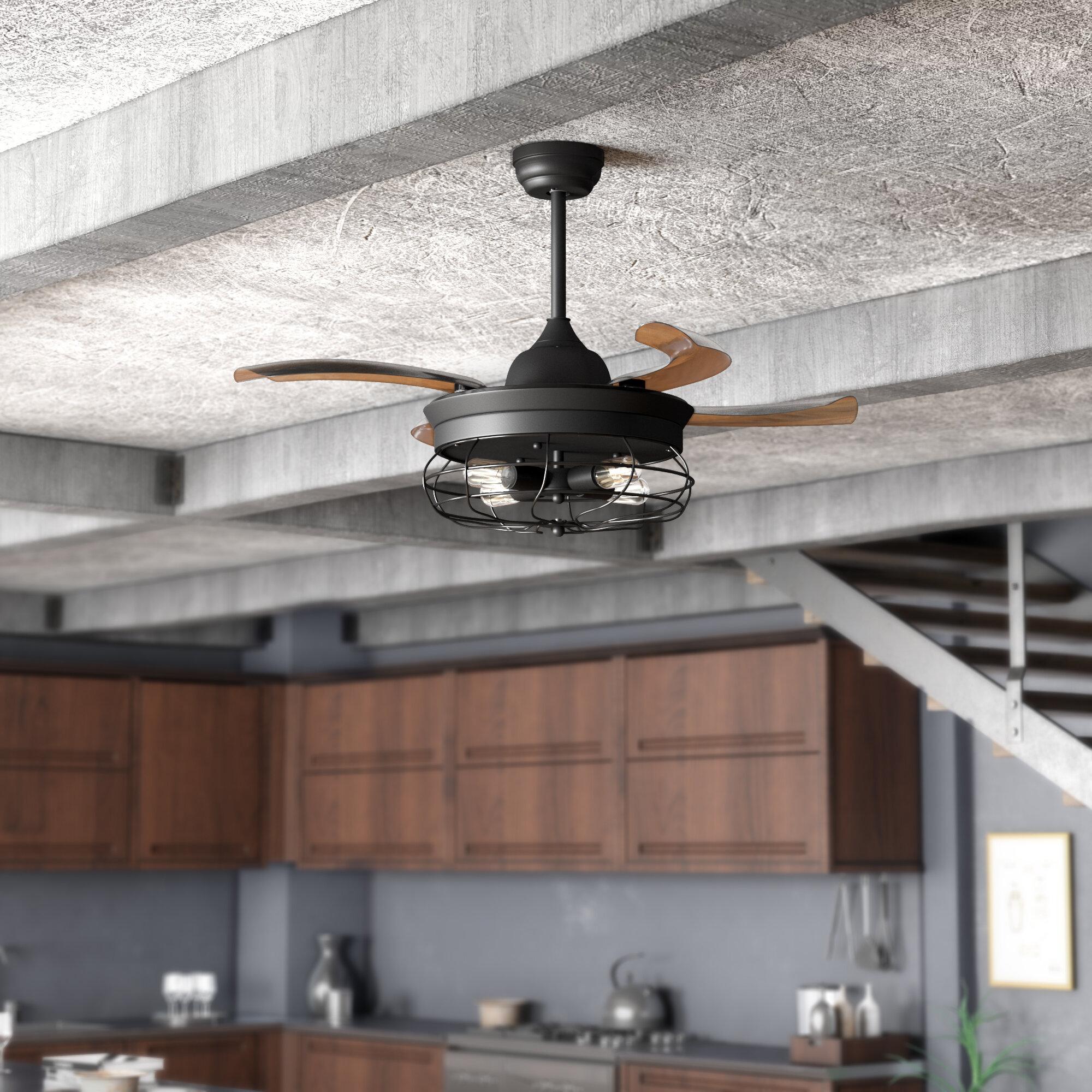 Black Indoor Ceiling Fans You Ll Love In 2020 Wayfair