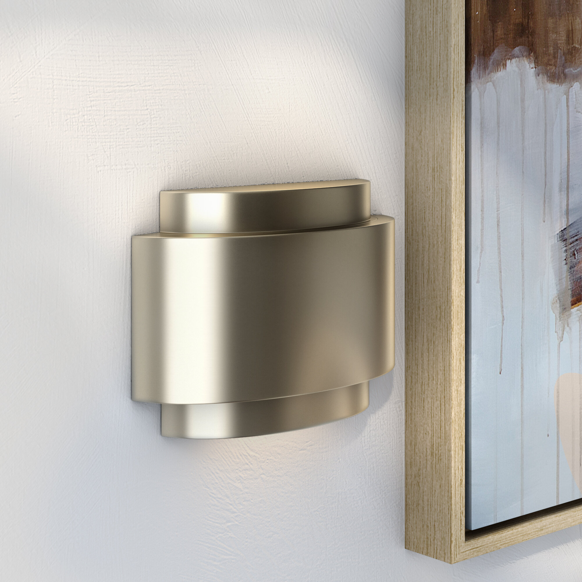 Wade Logan Contemporary Door Chime In Stainless Steel Reviews Wayfair