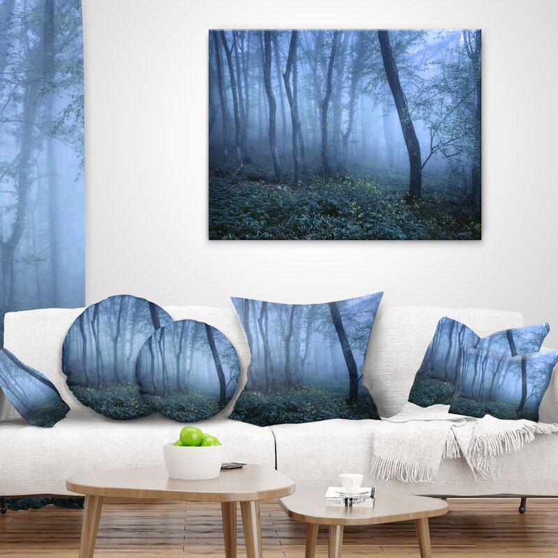 East Urban Home Trail Through Fall Forest Landscape Photo Lumbar Pillow Wayfair
