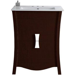 Cataldo Glazed Floor Mount 24 Single Bathroom Vanity Set By Royal Purple Bath Kitchen