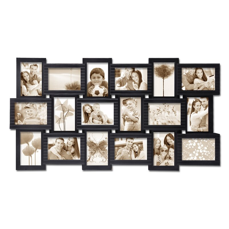 AdecoTrading 18 Opening Plastic Photo Collage Wall Hanging Picture ...