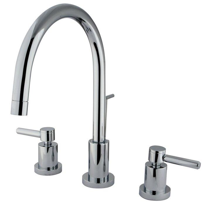 Elements Of Design Concord Single Hole Widespread Bathroom Faucet