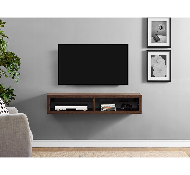 Martin Home Furnishings Shallow Wall Mounted Tv Stand For