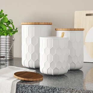 White Kitchen Canisters Jars You Ll Love In 2021 Wayfair