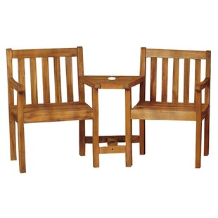 Teagan Acacia Wood 2 Piece 2 Person Seating Group