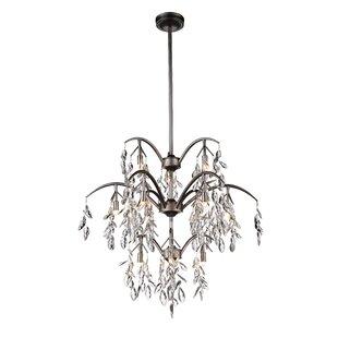 CWI Lighting Napan 12-Light Crystal Chandelier