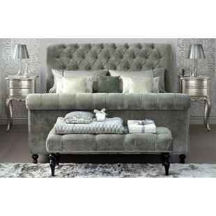 Review Tiara Upholstered Sleigh Bed