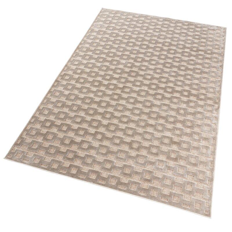 Mint Rugs Viskose Teppich Shine Bouton In Taupe Wayfair De