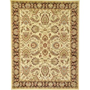 Fairmount Traditional Cream Oriental Area Rug by Three Posts