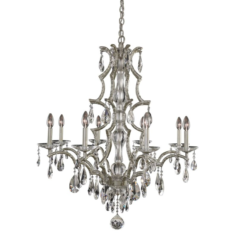 Rosdorf Park Bellair 8 Light Candle Style Classic Chandelier With Crystal Accents Wayfair