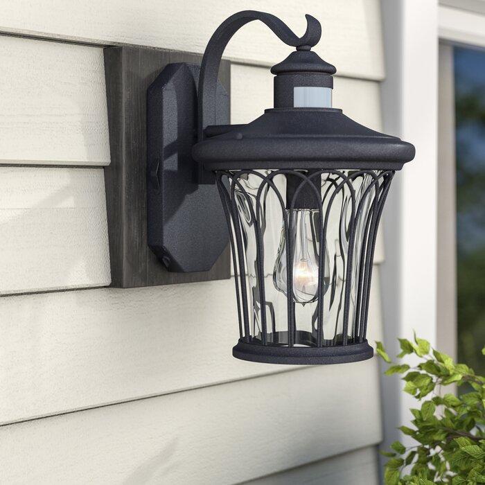 Alcott Hill Hylan Outdoor Wall Lantern With Motion Sensor Wayfair Ca