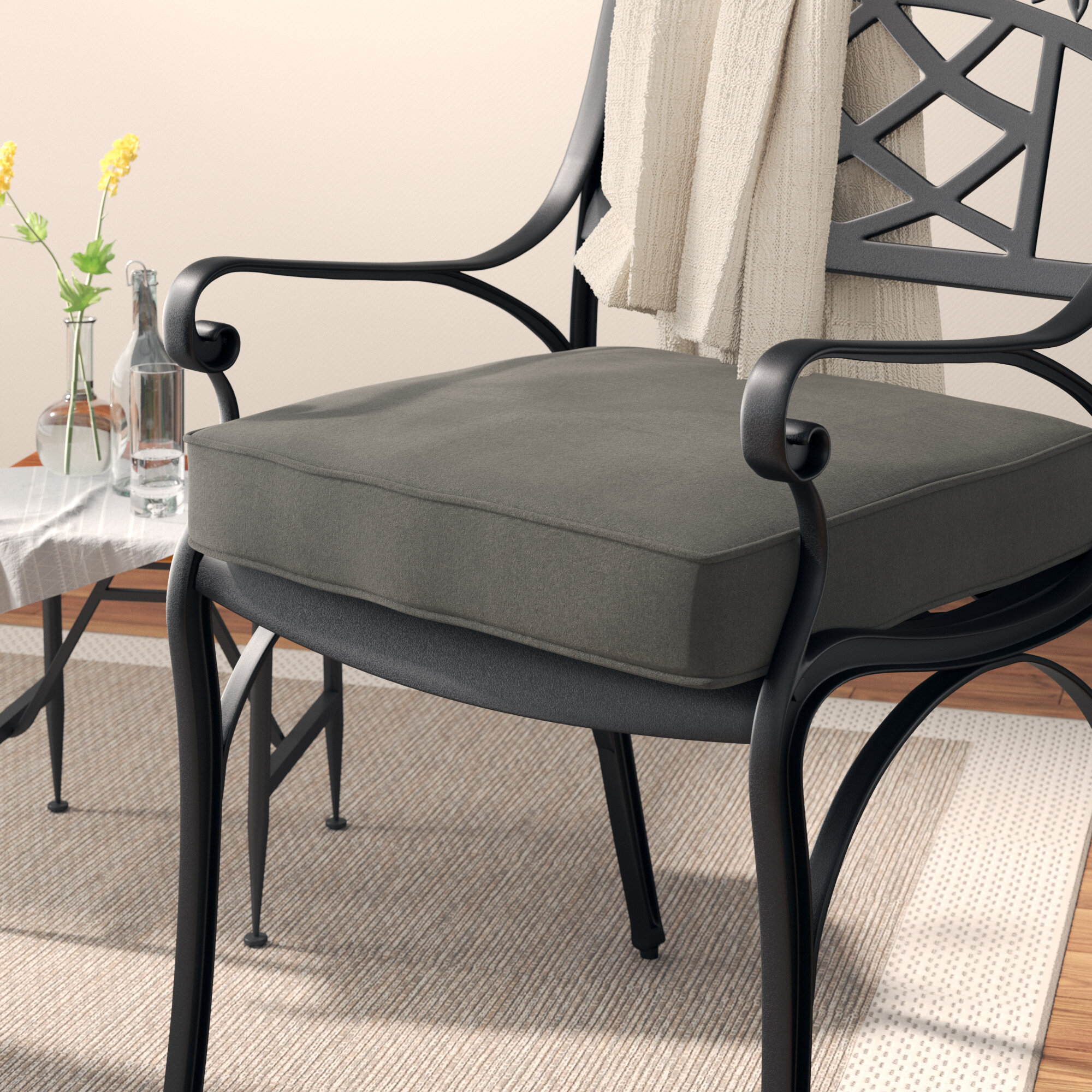 Laurel Foundry Modern Farmhouse Outdoor Sunbrella Dining Chair Cushion Wayfair