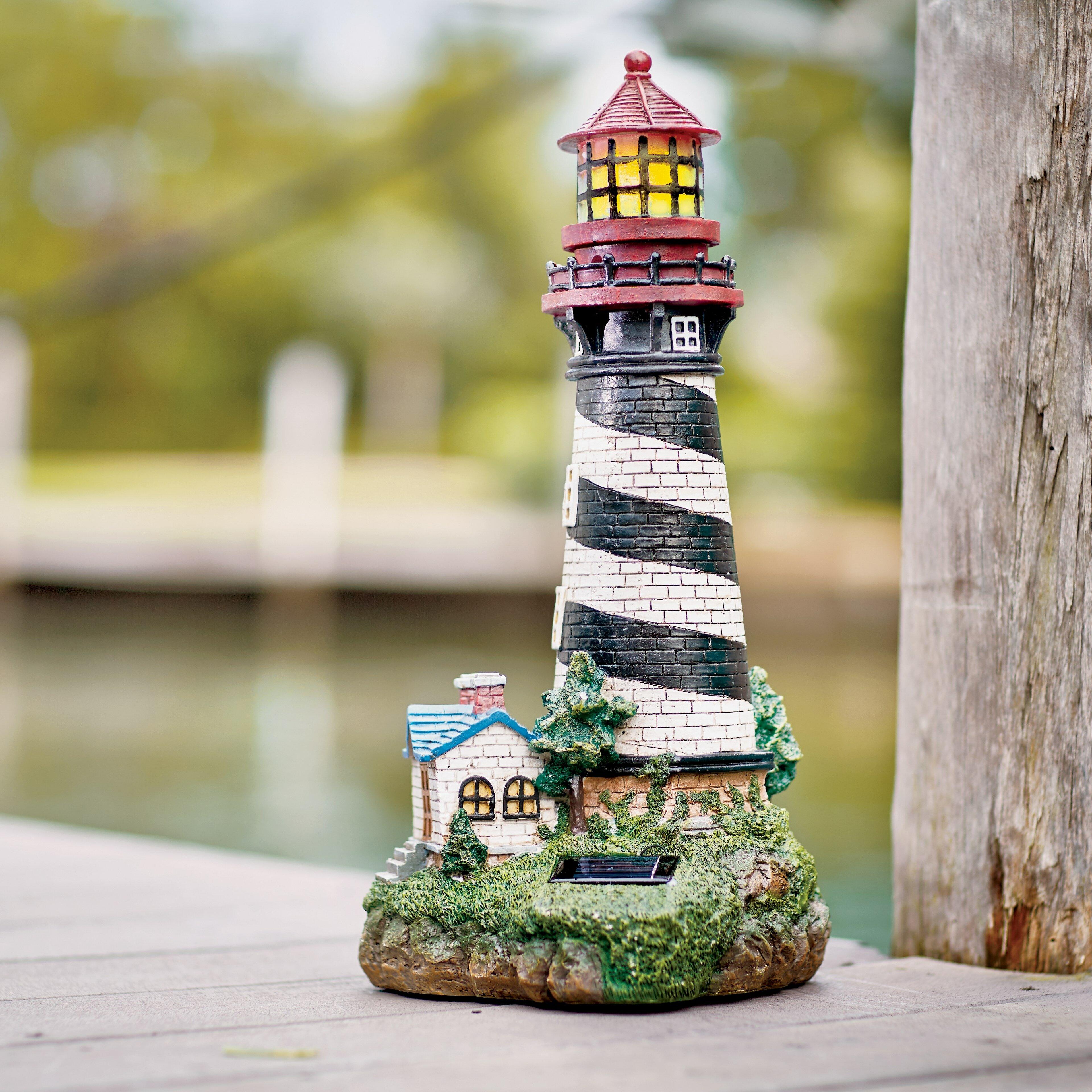 Breakwater Bay Groton Solar Powered Garden Lighthouse Decorative Lantern u0026 Reviews   Wayfair & Breakwater Bay Groton Solar Powered Garden Lighthouse Decorative ...
