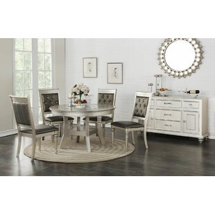 Blumer Glass 5 Piece Dining Set Rosdorf Park