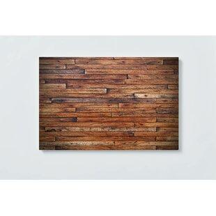 Vintage Wood Magnetic Wall Mounted Cork Board By Ebern Designs